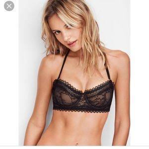 Victoria secret black lace bra 32DD unlined demi